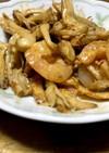 舞茸とエビのオーロラソース炒め