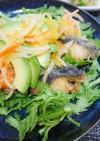 鯖と春菊の南蛮漬けサラダ