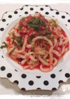 トマトとツナの冷製パスタ(冷製うどん)