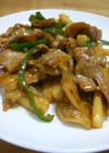豚肉と長芋の甘辛カレー炒め