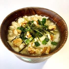 糖質オフ 高野豆腐でお茶漬け風