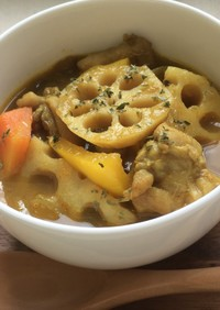 野菜たっぷり!秋のスープカレー
