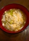 食べる味噌汁・3~ふわふわキャベツ卵