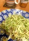 モリモリ食べるキャベツジャコサラダ