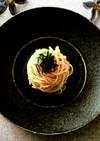 「毎月作る、世界の料理」明太子パスタ