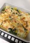 小松菜とじゃがいも明太マヨチーズ焼き