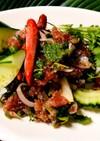タイ料理 マグロのラープ