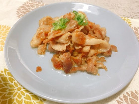 豚の梅肉炒め