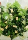 レタスとキュウリの海苔チーズ乗せサラダ☆
