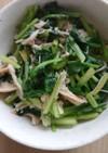 小松菜とキノコの簡単炒め