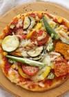夏野菜たっぷりピザ