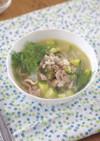豚肉とズッキーニのスープ