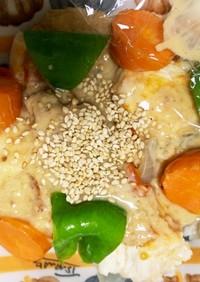 全てレンジ根菜たっぷり棒棒鶏風胡麻味噌煮