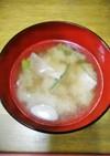 お料理一年生ベーコンと白ねぎのお味噌汁❤