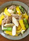 マコモダケと彩野菜のオイスター味噌炒め