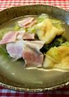 白菜と薄揚げとベーコンのスープ煮