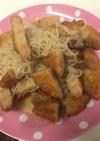 麺つゆで簡単!さつま揚げと白滝の煮物
