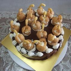 スワンバースディケーキ