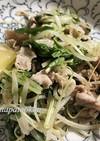 あっさり美味しい♪豚肉と水菜のネギ塩炒め