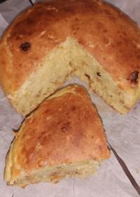 ヨーグルトとフルグラで厚焼ホットケーキ