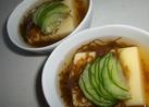 卵豆腐+もずく酢=美味しい★