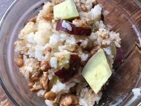 納豆とさつま芋のまぜご飯