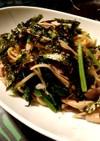 豚肉と小松菜&きのこ 和風醤油パスタ