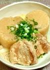 角煮豚バラブロックと大根の牛乳&味噌煮