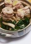 肉巻き白葱鍋