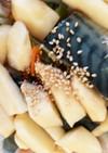 全てレンジ塩鯖と大和芋根菜の南蛮漬け風