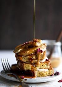 ピーナッツバターのバナナフレンチトースト