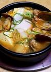 アサリと豆腐のスンドゥブチゲ