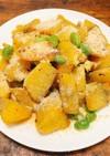サツマイモと枝豆のマヨネーズ炒め