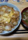 ホタテとキムチの甘辛丼(激速)
