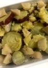 サツマイモとリンゴの煮物