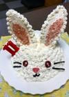 うさぎ ケーキ 立体ケーキ