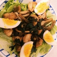 鶏とキノコのおうちカフェ丼~ゆず胡椒風味