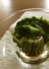 レタスのおひたし・カラシごま油味