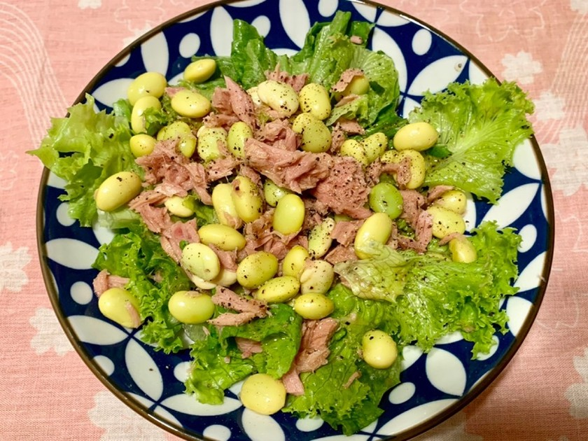 枝豆とツナのシンプルサラダ