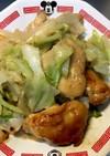 鶏肉とキャベツのマヨポン炒め