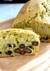 黒豆と青汁(抹茶)しっとりパウンドケーキ