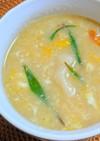焼売の皮と卵の中華スープ