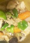 全てレンジ胸肉と根菜の南蛮漬け風