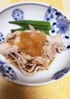 オクラと豚肉のおろしポン酢
