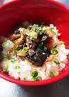 鯖の水煮丼