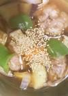 全てレンジ豚こま団子根菜の梅酢あん煮