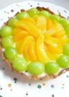 レアチーズケーキ風フルーツタルト