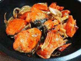 鮭の黒酢あんかけ(ミツカンかんたん黒酢)