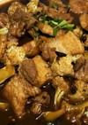 カリフラワーと豚肉の醤油炒め