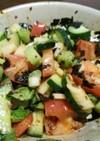 色々野菜の韓国海苔サラダ